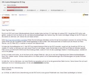 Eskalieren an den Datenschutzbeauftragten des Kantons Zug